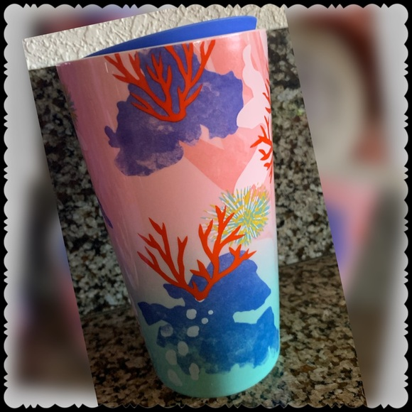 NWT STARBUCK'S Summer 2021 LE CORAL REEF Tumbler